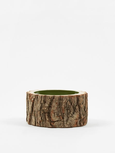 "Log Bowl 5.5""- 6.5"" - Green Olive"