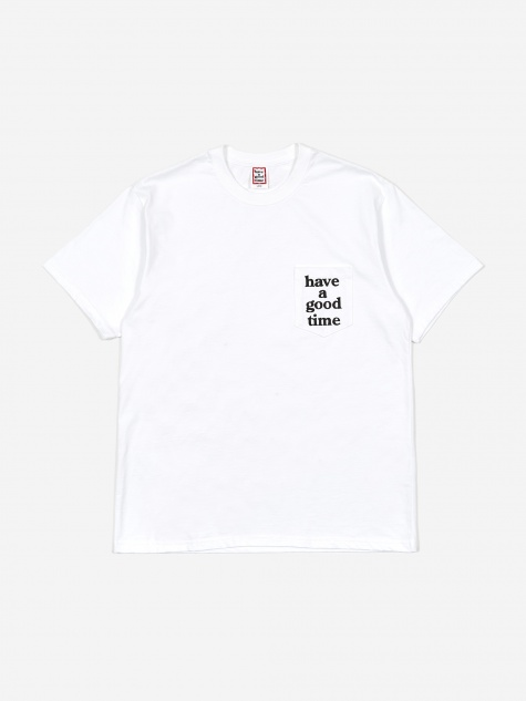 Pocket Tee - White/Black