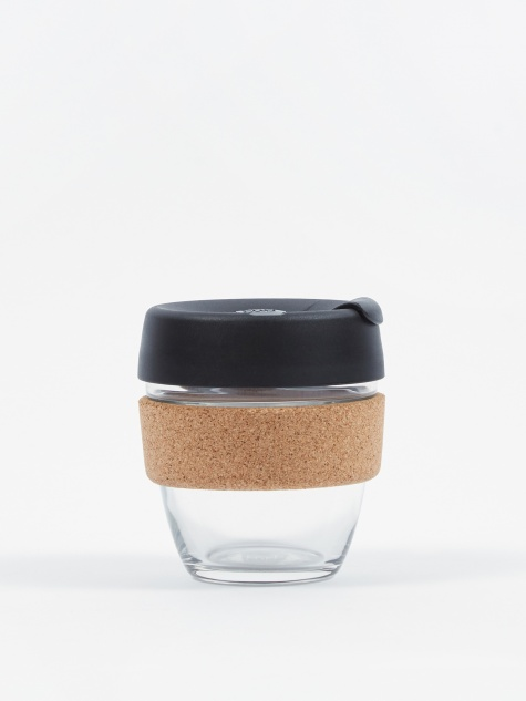 Cork Brew Reusable 8oz Glass Coffee Cup - Espresso