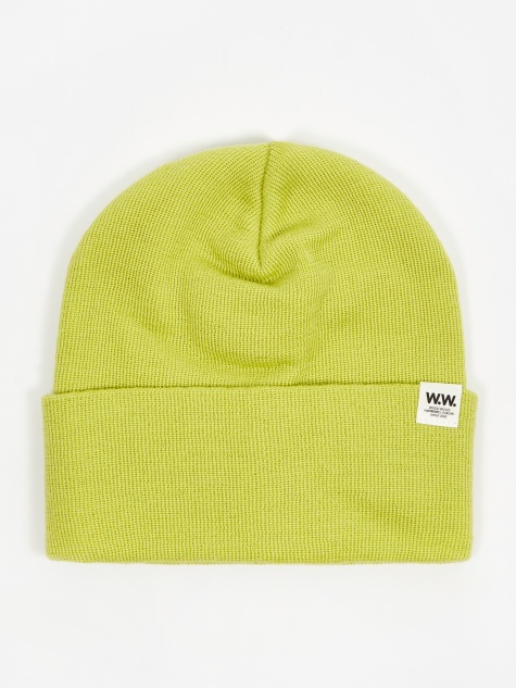 Gerald Tall Beanie Hat - Bright Green