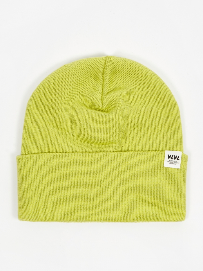 Wood Wood Gerald Tall Beanie Hat - Bright Green (Image 1)
