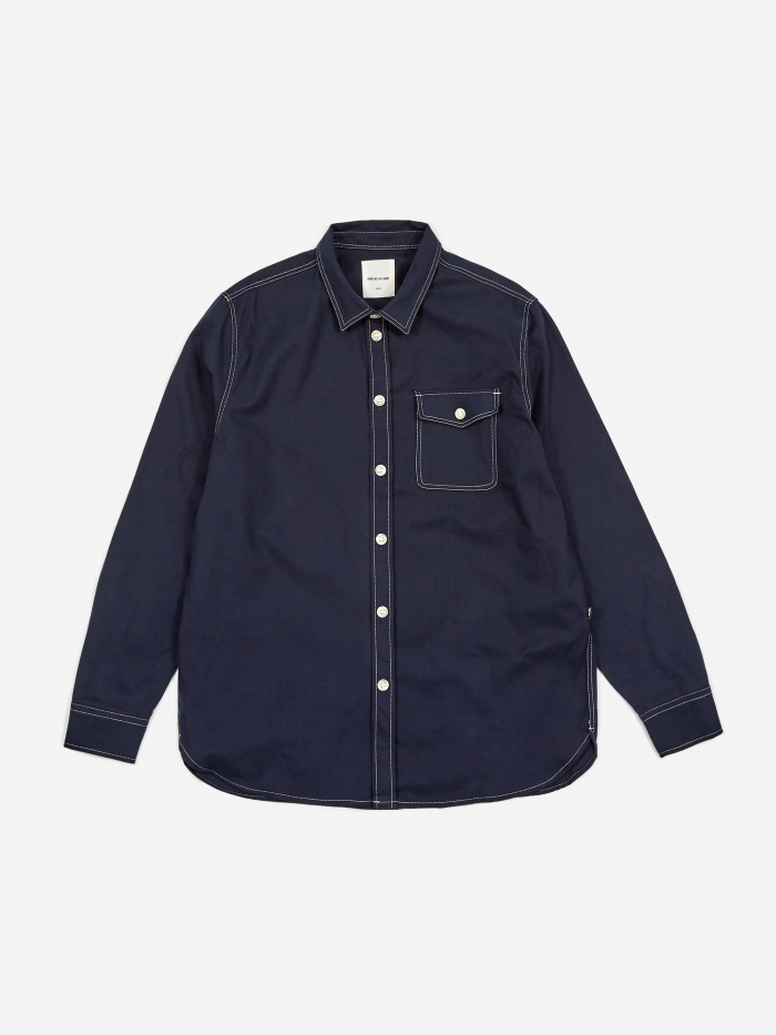 Wood Wood Aske Shirt - Navy (Image 1)