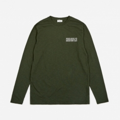 Wood Wood Peter Longsleeve T-Shirt - Dark Green