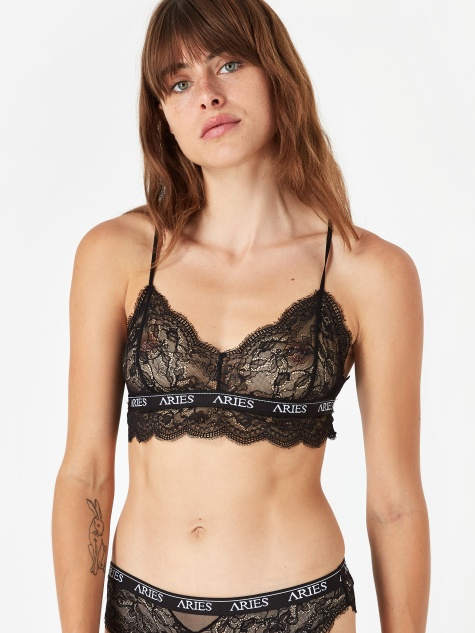 Lace Bra Top - Black