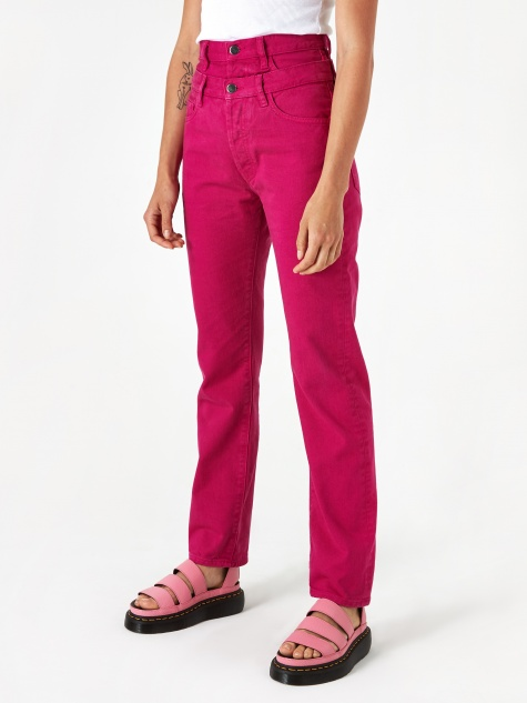 Double Waisted Lilly Jean - Fuschia
