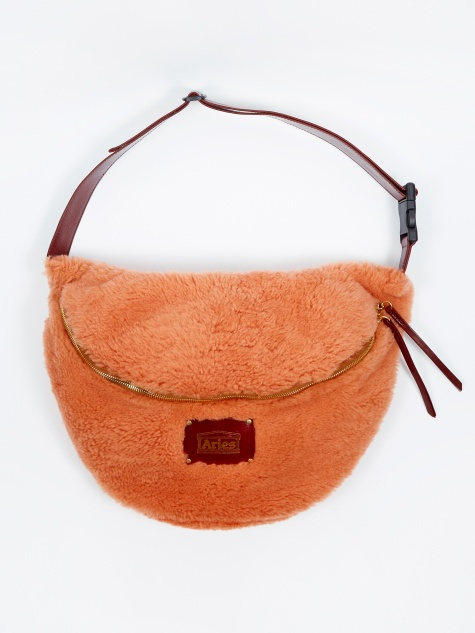 Elis Sheepskin Bag - Orange