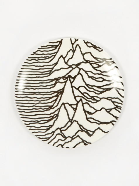 Goodhood x Joy Division 'Unknown Pleasures' Plate - White