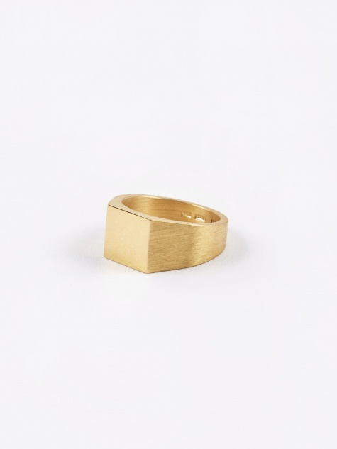 Platform Ring - Polished/Brushed Gold