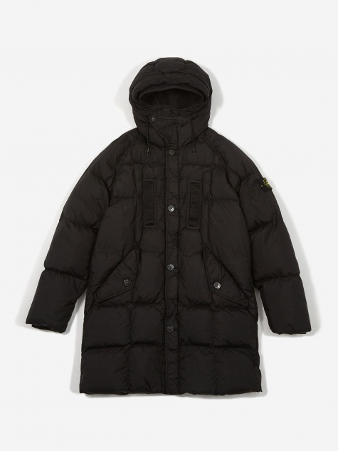Real Down Blouson Coat - Black
