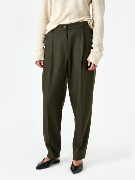 Garbo Trouser - Army Green