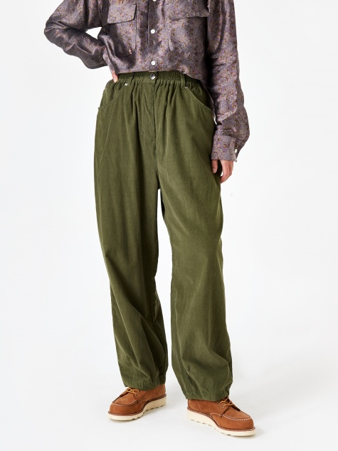 Fat Boy Corduroy Trouser - Olive