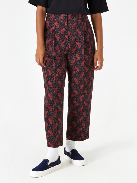 Market Trouser - Navy/Red
