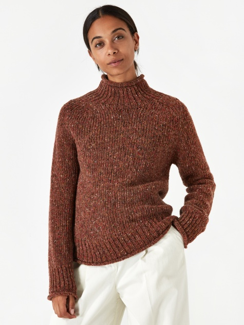 Diddy Roll Neck Jumper - Brown