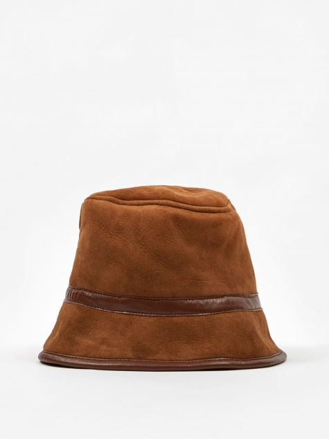 Sheepskin Bucket Hat - Tan