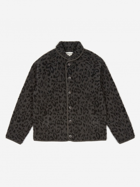 Leopard Beach Jacket - Charcoal/Navy