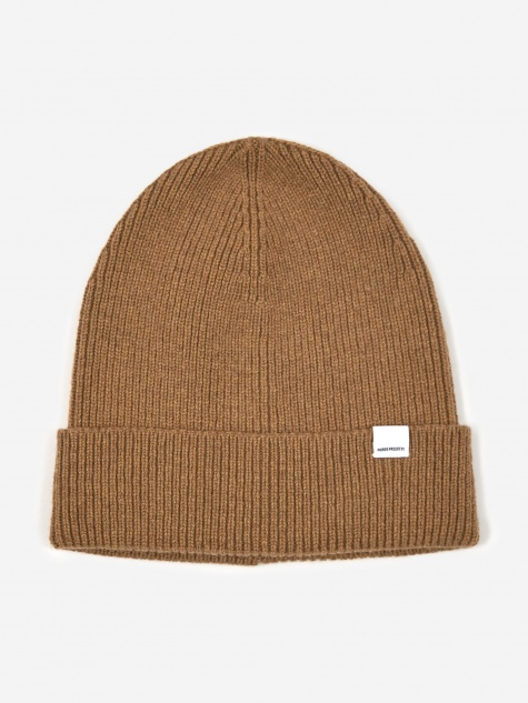 Lambswool Beanie Hat - Camel