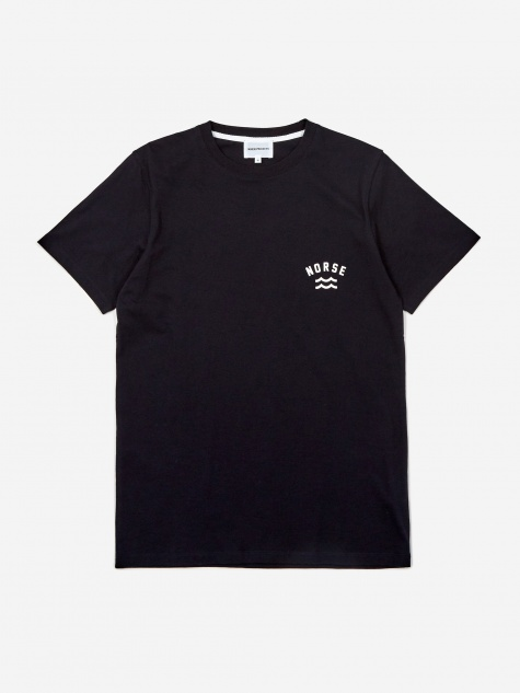 Niels Ivy Wave Logo Shortsleeve T-Shirt - Dark Na