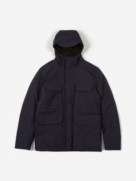 Norse Projects Nunk Cambric Cotton Jacket - Dark Navy