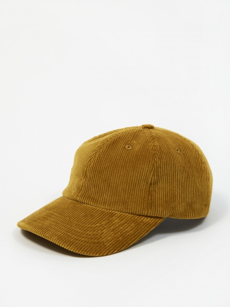 Wide Wale Cord Sports Cap - Montpellier Yellow