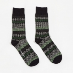 Norse Projects Bjarki Fairisle Socks - Dark Navy