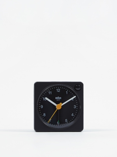 Classic Travel Analogue Alarm Clock - Black