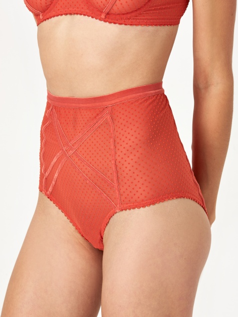 Gigi High Waist Brief - Copper