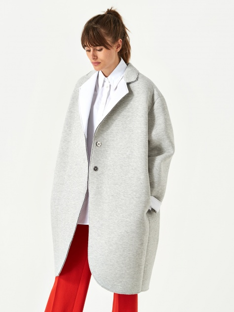 Coat - Grey Melange