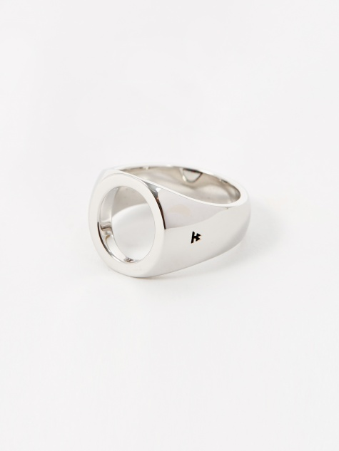 Oval Open Ring - Sterling Silver