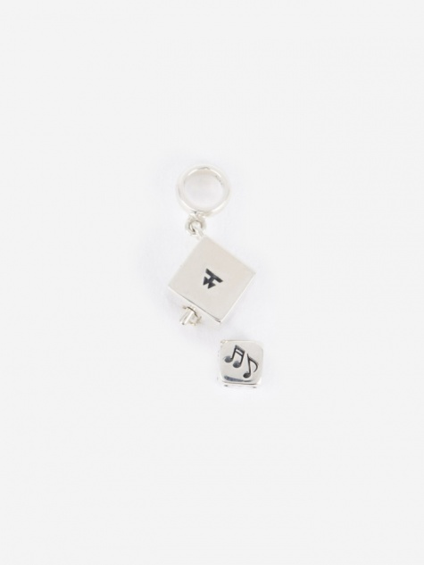 Box Charm - Sterling Silver