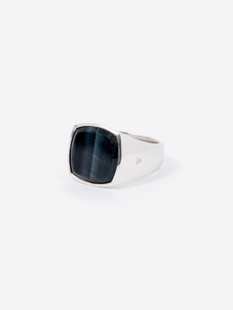Cushion Ring - Blue Hawk Eye