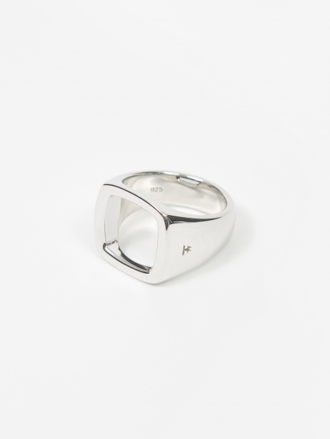 Cushion Open Ring - Sterling Silver