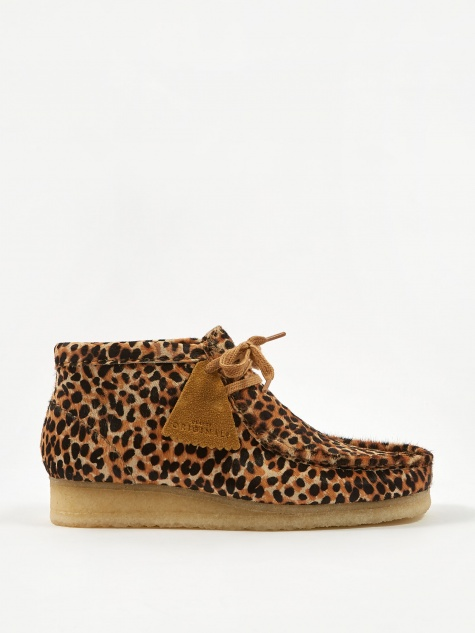 Clarks Wallabee Boot - Brown Animal Print