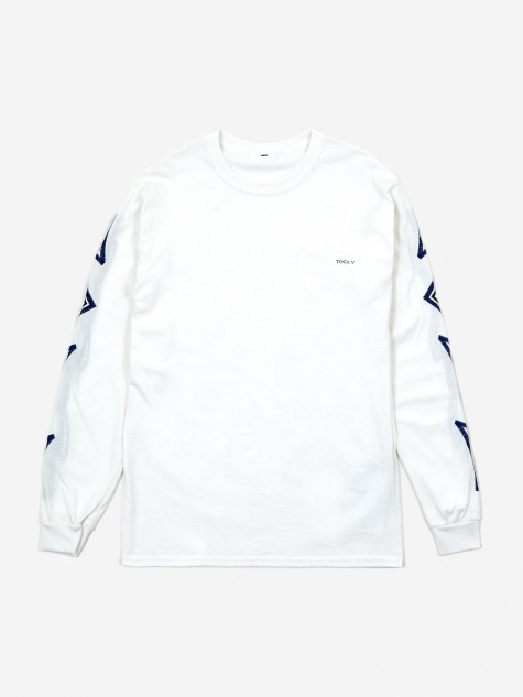 Embroidery Longsleeve T-Shirt - White