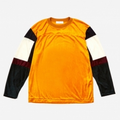 TOGA VIRILIS Velour Longsleeve T-Shirt - Orange