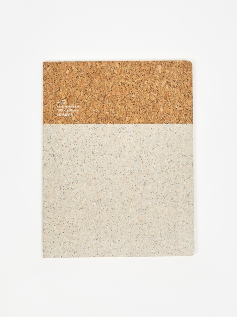 Cork Notebook Large - White