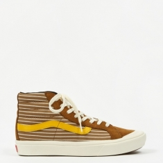 Vans Comfycush Style 138 LX - (Suede/Canvas) Breen/Gold