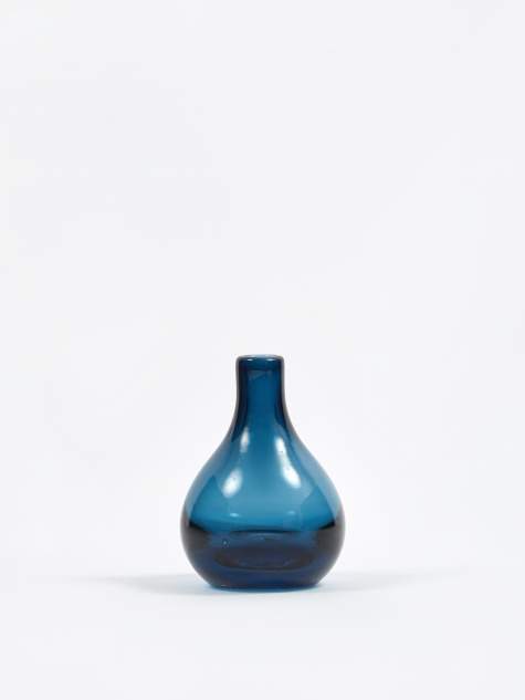 Bjork Mouthblown Glass Vase - Crown Blue