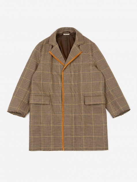 Double Face Check Jacket - Beige