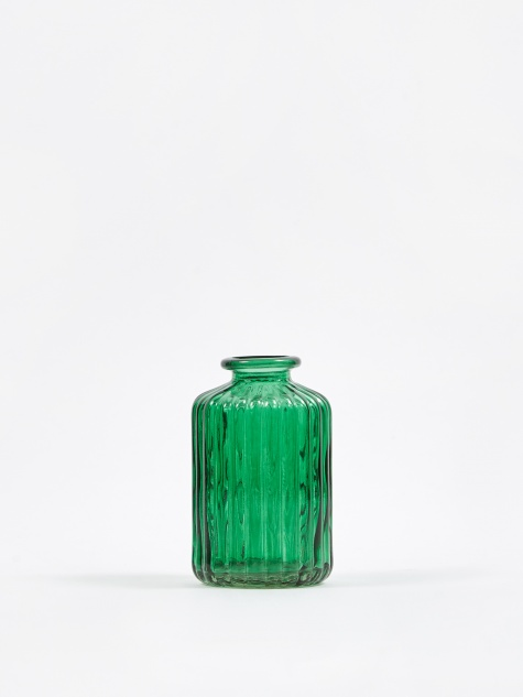 Agnar Glass Vase - Smoke Pine