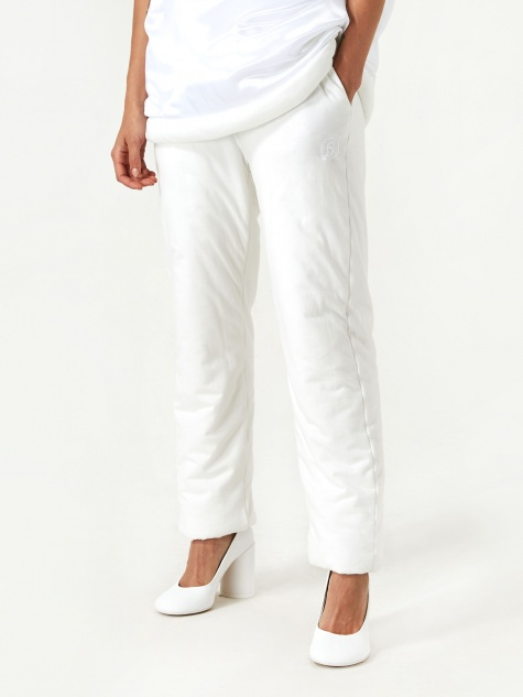 Studio Padded Trousers - White