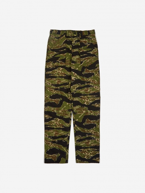 Taper Fit 4 Pocket Fatigue Trousers 8.5oz - Tiger Strip