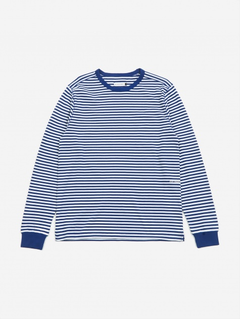 x Pop/Eye Striped  T-Shirt - Royal/White