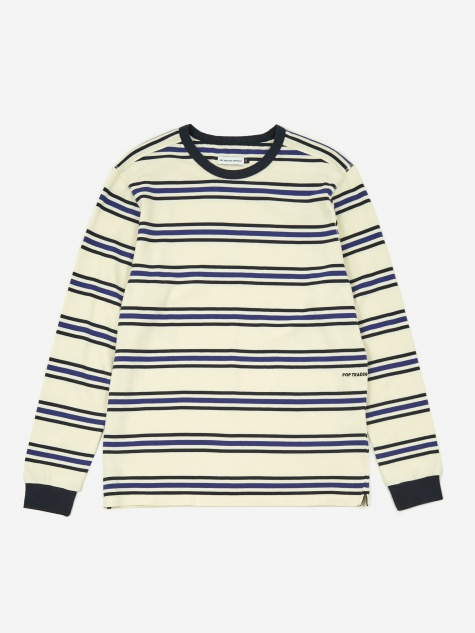 Harold Stripe Longsleeve T-Shirt - Off White