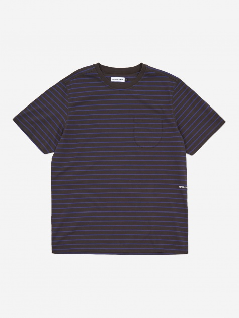 Casper Stripe Pocket T-Shirt - Black/Grape