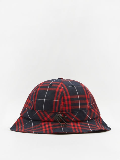 Bell Hat - Red/Navy Plaid