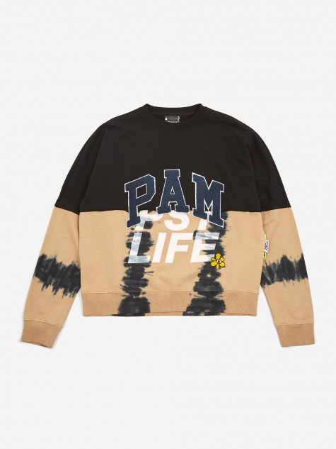 PAM Perks And Mini Psy Life Half Way Crew Neck Sweatshirt - Blac