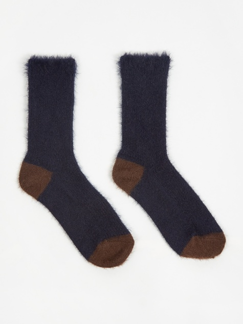 Fur Socks - Navy