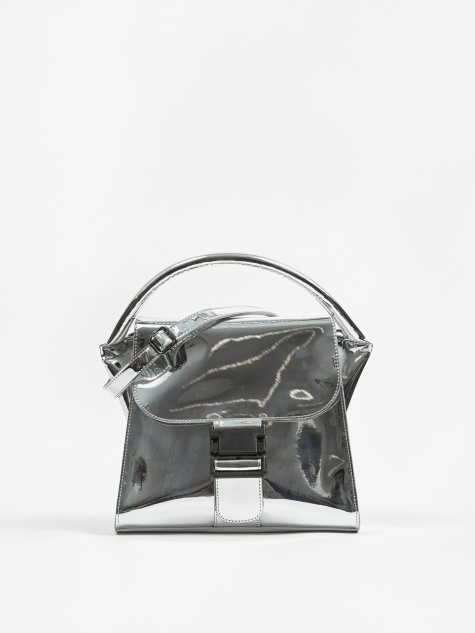 Buckled Bag Mirror - Silver