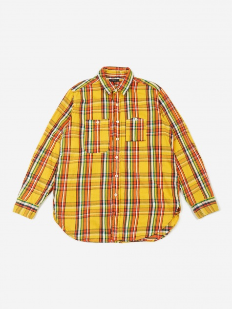 Work Shirt - Yellow Cotton Twill Plaid