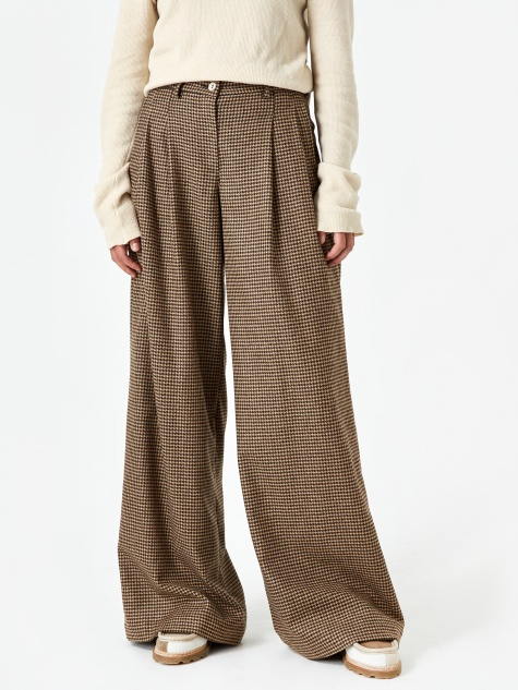 Katherine Pant - Micro Houndstooth